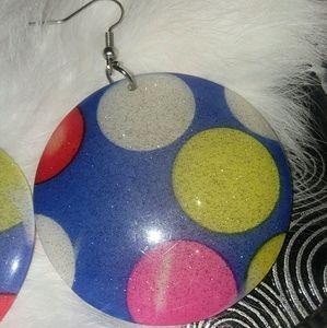 Pair of Vintage polka dot earrings